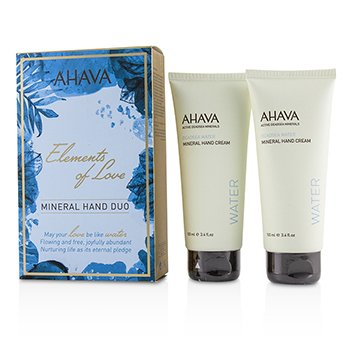 Ahava Elements Of Love Mineral Dúo de Manos (2x Deadsea Water Mineral Crema de Manos 100ml)