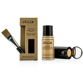 Stila Kit Stay All Day Base, Corrector & Brocha - # 7 Buff