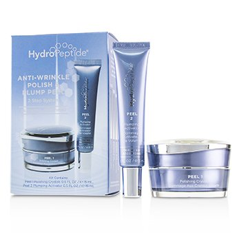 HydroPeptide Anti-Wrinkle Polish & Plump Peel: Cristales Pulidores Anti-Arrugas 15ml + Activador Llenador Anti-Arrugas 15ml