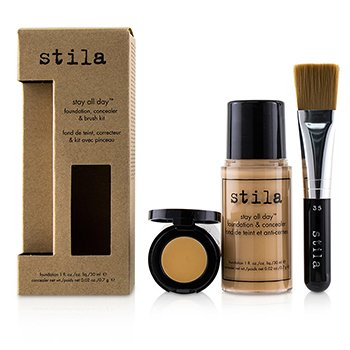 Stila Kit Stay All Day Base, Corrector & Brocha - # 3 Light