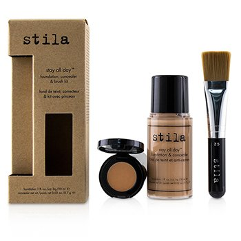 Stila Kit Stay All Day Base, Corrector & Brocha - # 4 Beige