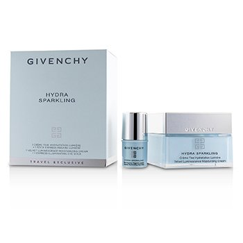 Givenchy Hydra Sparkling Travel Set: Velvet Luminescence Moisturizing Cream, Express Illuminating Eye Stick