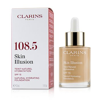 Clarins Skin Illusion Natural Hydrating Foundation SPF 15 # 108.5 Cashew