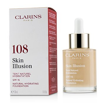 Clarins Skin Illusion Natural Hydrating Foundation SPF 15 # 108 Sand
