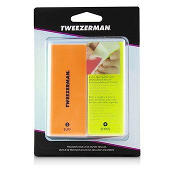 Tweezerman Neon Hot 4 In 1 File, Buff, Smooth & Shine Block