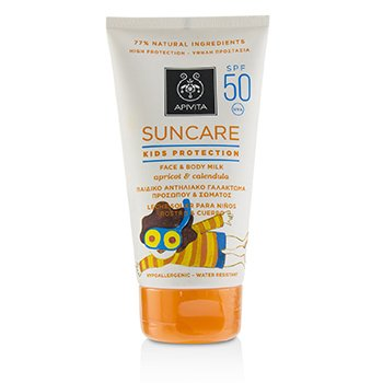 Apivita Suncare Kids Protection Face & Body Milk SPF 50 With Apricot & Calendula (Exp. Date: 12/2019)