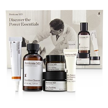 Perricone MD Kit Discover The Power Essentials: Nutritive Limpiador + Activador Reafirmante + Hidratante de Acabado + Crema de Ojos + Vitamin C Ester