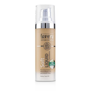 Lavera Base Líquida Suave - # 03 Honey Sand