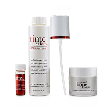 Philosophy Hydrating & Glow Renewing Duo: Time In A Bottle Suero+Activador+Renewed Hope In A Jar