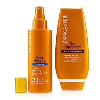 Lancaster Set Your Suncare Routine For A Legendary Goldan Tan: Spray Lechoso Libre de Aceite SPF 30 150ml + Maximizador de Bronceado Para Después del Sol 125ml