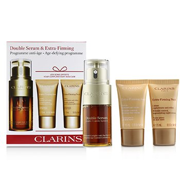 Clarins Double Serum & Extra-Firming Collection: Double Serum 30ml + Extra-Firming Day 15ml + Extra-Firming Night 15ml