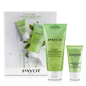Payot Kit Pate Grise Anti-Imperfections Coach: 1x Gel Espumoso 200ml + 1x Cuidado Matificante Hidratante 50ml