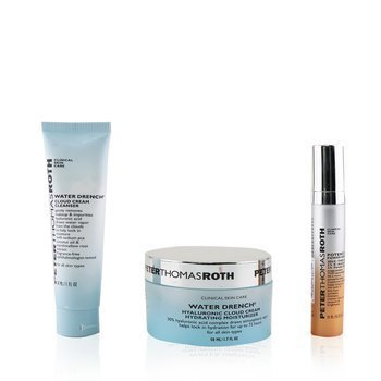 Peter Thomas Roth Kit Hydration Glow-Up: 1x Water Drench Limpiador 30ml + 1x Water Drench Hidratante 50ml + 1x Potent-C Power Suero 10ml
