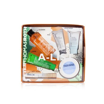 Peter Thomas Roth Kit The A-List 6-Piece Bestseller: Gel Limpiador 57ml + Gel Peeling 15ml + Cucumber Gel Mascarilla 30ml + Almohadillas Correctoras 20pzs + Suero 10ml + Hidratante 20ml