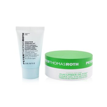 Peter Thomas Roth Kit Drench & De-Tox 2-Piece: Hidratante 20ml + Cucumber Parches de Ojos 15 pares