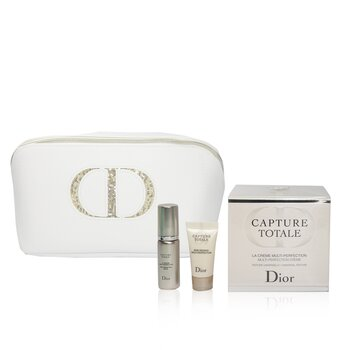 Christian Dior Capture Totale Multi-Perfection Coffret: Crema 60ml + Suero 7ml + Tratamiento de Ojos 5ml + Bolsa