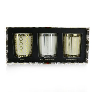 Nest Festive Votive Trio Candles Coffret: Holiday, Birchwood Pine, Blue Cypress & Snow