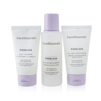 Bare Escentuals Poreless At Any Age Starter Kit: Clay Cleanser 30ml+ Exfoliating Essence 50ml+ Oil-Free Moisturizer 30ml