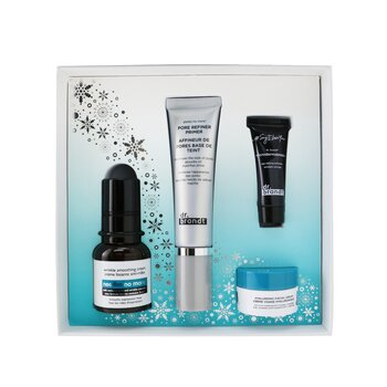 Dr. Brandt Skincare Wishlist Kit: Pore Refiner Primer 30ml+ Wrinkle Smoothing Cream 15g+ Microdermabrasion 7.5g+ Hyaluronic Cream 10g
