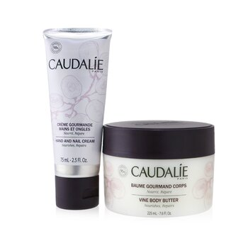 Caudalie Cocooning Body Care Set: Vine Body Butter 225ml + Hand and Nail Cream 75ml