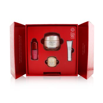 Shiseido Smooth Skin Sensations Set: Benefiance Day Cream SPF23 50ml + Ultimune Concentrate 10ml + Benefiance Smoothing Cream 15ml + Benefiance Eye Cream 5ml
