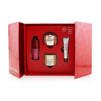 Shiseido Velvety Eye Delights Set: Benefiance Eye Cream 15ml + Ultimune Concentrate 10ml + Benefiance Day Cream SPF 23 30ml + Ultimune Eye Concentrate 5ml