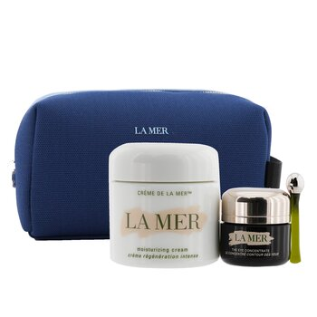 La Mer The Perfect Pair Set: Moisturizing Cream 60ml + Eye Concentrate 15ml + Bag (Unboxed)