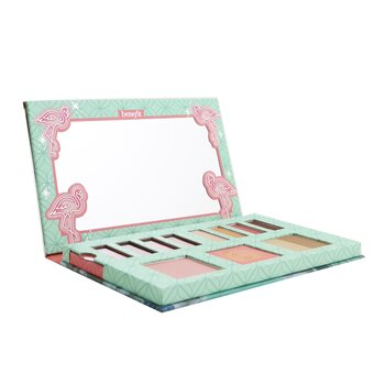 Benefit Party Like A Flockstar Palette (2x Lip Color, 2x Lip Shine, 4x Eye Shadow, 1x Bronzer, 1x Face Powder, 1x Blush)
