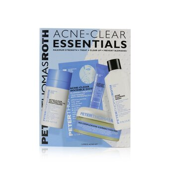 Acne-Clear Essentials 5-Piece Acne Kit: Wash 57ml+Correction Pads 20 pcs+Moisturizer 20ml+Treatment 7.5ml+Clear Dots 12 dots (Exp. Date: 08/2021)