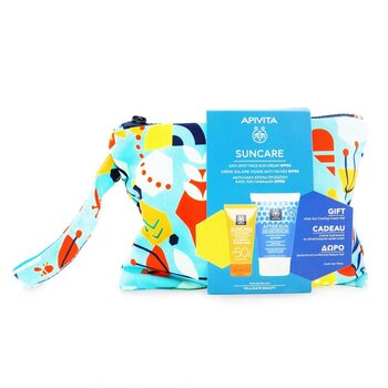 Apivita Suncare Gift Set: Anti-Spot Face Cream SPF50 50ml + After Sun Cooling Cream-Gel 100ml (Exp. Date: 10/2021)