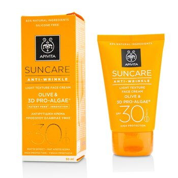Apivita Suncare Anti-Wrinkle Light Texture Face Cream SPF 30 (Exp. Date: 11/2021)