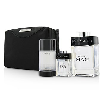 Bvlgari Man Coffret: Eau De Toilette Spray 100ml + Spray de Viaje 15ml + Desodorante en Barra 75ml  + Bolsa de Viaje