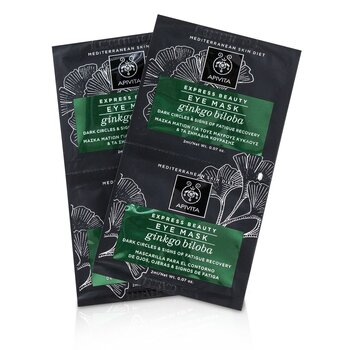Apivita Express Beauty Eye Mask with Ginkgo Biloba (Dark Circles & Signs Of Fatigue Recovery)