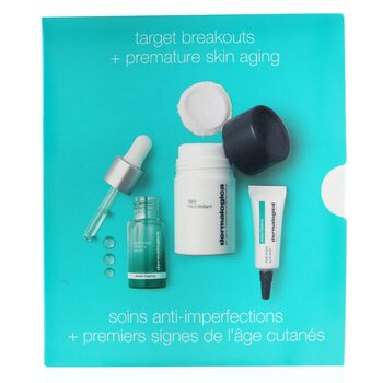 Dermalogica Clear & Brighten Kit: Daily Microfoliant 13g+ Age Bright Clearing Serum 10ml+ Age Bright Spot Fader 6ml