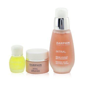 Darphin Intral Soothing Botanical Wonders Set: Soothing Serum 30ml+ Soothing Cream 5ml+ Chamomile Aromatic Care 4ml